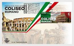 Spanje / Spain - Postfris / MNH - FDC Wereldwonderen Colosseum 2021 - 2011-... Unused Stamps