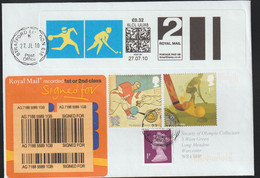 Great Britain FDC Posted Signed For 2012 London Olympic Games - From 2010 Hockey + Goalball + SmartStamp - Summer 2012: London