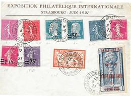 Cachet Manuel Temporaire Strasbourg Exposition-Plilatélique 8-6 27 - Handstempels