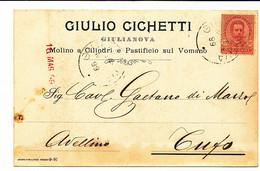 1899 GIULIANOVA GIULIO CICCHETTI MOLINO A CILINDRI PASTIFICIO SUL VOMANO CARTOLINA PUBBLICITARIA - Poststempel