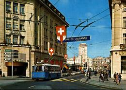 N°9438 R -cpsm Trolleybus à Lausanne - Autobús & Autocar