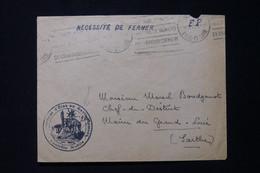 FRANCE - Cachet Du Contrôle Mobile Du Ravitaillement Sur Enveloppe En 1942 Pour Le Maire Du Grand Lucé - L 85507 - 1921-1960: Modern Period