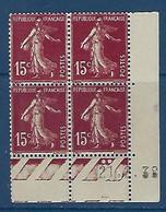 "FR Coins Datés YT 189 (II) "" Semeuse Camée 15c. Brun-lilas "" Neuf** Du 21.2.38 - ....-1929"
