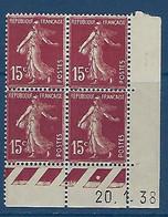 "FR Coins Datés YT 189 (II) "" Semeuse Camée 15c. Brun-lilas "" Neuf** Du 20.1.38 - ....-1929"