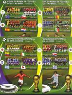 MADAGASCAR Feuillet N° ( X8 ) * * Cup 2014 Football Soccer Fussball Groupe A à F - 2014 – Brazilië