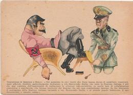 Italia - R.S.I. Cartolina In Franchigia Disegno Di Gilo  ( Telegramma Di Badoglio A Stalin  )- 1944 - Guerra 1939-45
