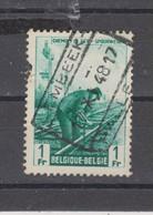 COB 273 Oblitération Centrale LEMBEEK - HALLE - 1942-1951