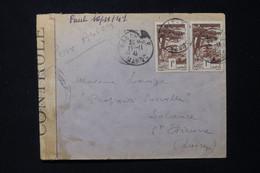 MAROC - Enveloppe De Rabat Pour St Etienne En 1941 Avec Contrôle Postal - L 85515 - Storia Postale