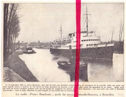 Orig. Knipsel Coupure Tijdschrift Magazine - Bruxelles, Malle Prince Baudouin Perle Du Service Ostende Douvres - 1934 - Ohne Zuordnung