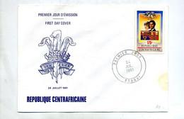 Lettre Fdc 1981 Mariage Charles Di - Repubblica Centroafricana
