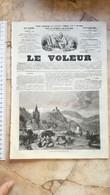 1858 LE VOLEUR VINTAGE FRANCE FRENCH MAGAZINE NEWS Newspapers NOVELS Narrative SHORT STORY STORIES Jura Suisse Pantheon - Magazines - Before 1900
