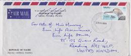 Nauru Enveloppe Timbre Oiseau Bird Stamp Commercial Air Mail Cover 1979 - Nauru