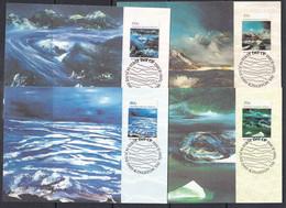 AAT 1989 Nolan Paintings 4v 4 Maxicards ** Mnh (51192) - Tarjetas – Máxima