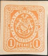 Germany Stadtpost/Privatpost Strassburg  1886 1 Pfg Michel 1 Unused - Sello Particular