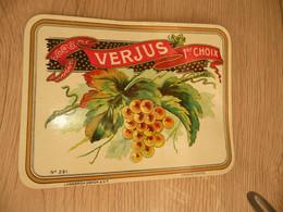 Lasseron Dehon Valenciennes étiquette Spécimen Verjus 1er Choix - Andere