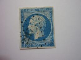 YT 14A - NAPOLEON 20c Bleu - Obl PC - 1853-1860 Napoleon III