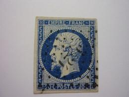 YT 14Ab - NAPOLEON 20c Bleu Noir - Obl PC - 1853-1860 Napoleon III