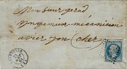 1861- Lettre De CHANTELLE ( Allier ) Cad T15 Affr. N°22 Oblit. P C 730 - 1849-1876: Classic Period
