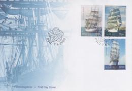 Enveloppe  FDC   1er   Jour    NORVEGE   Grands  Voiliers   2005 - FDC