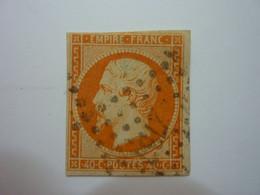 YT 16a - NAPOLEON 40c Orange Vif - Obl PC - 1853-1860 Napoleon III