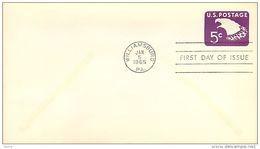 USA  -  Intero Postale  -  Stationery   -  Air Mail  5c. - 1961-80