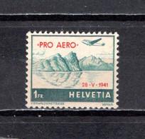 Suiza   1941  .-   Y&T   Nº    34A    Aéreo     ** - Neufs