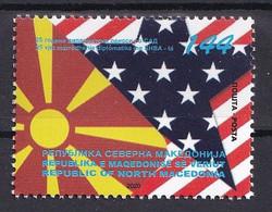 MACEDONIA NORTH 2020 , 200 YEARS DIPLOMATIC  RELATIONS WITH USA,MNH - Macedonia