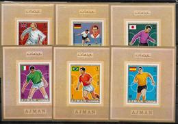 AJMAN BF Luxe  PA  71- E  * *  NON DENTELE   Cup 1970  Fussball  Soccer Football - 1970 – Mexique