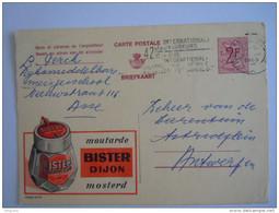 Publibel 2271 Moutarde Bister Dijon Mosterd Gelopen Circulée 1969 Flamme Vlagstempel Jaarbeurs Foire - Publibels