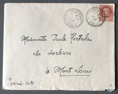 France N°517 Sur Enveloppe TAD Perlé Bédeilhac-et-Aynat, Ariège 11.8.1942 - (C1472) - 1921-1960: Modern Period