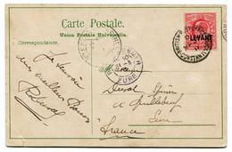 RC 19870 LEVANT ANGLAIS EN TURQUIE 1911 CARTE DE CONSTANTINOPLE POUR LA FRANCE - British Levant