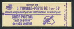 FRANCE - CARNET N° 1892 -C 1 - * * - CD DU 7.  29/7/76 - COMPLET FERMÉ & LUXE - Standaardgebruik