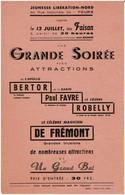 Publicite Avec Robelly De Frémont Bertor Magie Tours - Unclassified