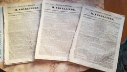 1857 IL NOVELLIERE LOT ANTIQUE VINTAGE FRANCE FRENCH MAGAZINE Newspapers NOVELS Narrative LE CATACOMBE DI PARIGI - Magazines - Before 1900