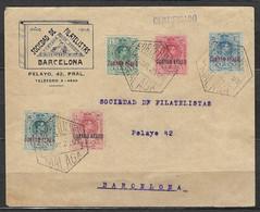 ⭐ Espagne - Poste Aérienne - YT N° 1 à 3 Et N° 5 Et 6 Sur Lettre - Oblitéré Le 12 Mai 1929 ⭐ - Covers