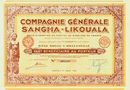 Compagnie Générale Sangha-Likouala - Afrika
