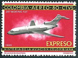Colombie Colombia 1966 AVIANCA Boeing 727 Express Espresso - Aerei