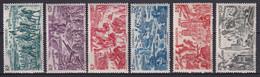 CAMEROUN - 1946 - TCHAD AU RHIN - YVERT N° 32/37 * MLH - COTE = 11.6 EURO - 1946 Tchad Au Rhin
