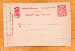 Luxembourg Old Card Unused - Ganzsachen