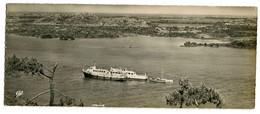 """Rare CPSM Panoramique """"Iles Chausey - L'Eclair De Dinard Et L'Albatros De Granville Au Mouillage"""" Manche - Normandie - Granville"""