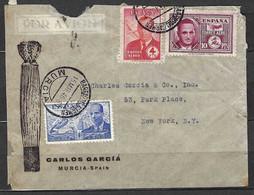 ⭐ Espagne - Poste Aérienne - YT N° 199 Et N° 231 / 232 Sur Lettre - 1946 ⭐ - Covers