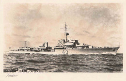 ORIGINAL WW2 KRIEGSMARINE POSTCARD -  ZERSTORER/DESTROYER - Guerre 1939-45