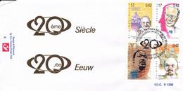 B01-289 2858 2859 2863 2864 FDC P1338 Sport Tour 20ème Siècle Johannes XIII Baudouin 04-12-1999 2220 Heist Op Den Berg - 1991-00