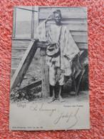 Cpa Congo Belge Facteur Des Postes Cachet Bleu  1906 - Congo Belga - Otros