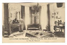 G155 - BOLBEC - Château De Roncherolles - Institution NOTRE DAME - Le Salon - Cheminée - Bolbec