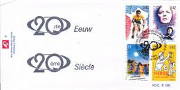 B01-289 2870 2871 2875 2876 FDC P1341 Sport Tour 20ème Siècle Merckx Piaf Tintin Hergé 04-12-1999 2220 Heist Op Den Berg - 1991-00