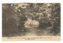 G161 - BOLBEC - Château De Roncherolles - Institution NOTRE DAME - Une Allée Du Parc - Bolbec