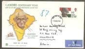 GB. Scott # 600 FDC. Mahatma Gandhi Centenary. 1969 - Mahatma Gandhi