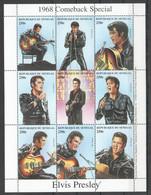 EC266 1998 DU SENEGAL FAMOUS PEOPLE 1968 COMEBACK SPECIAL ELVIS PRESLEY 1KB MNH - Elvis Presley