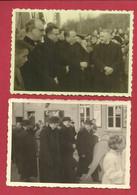 Halle - Essenbeek - 2 Foto's 10 X 7 Cm - Inhuldiging E. H. Mercelis, Pastoor 1958 - Voormalig Onderpastoor Buizingen - Unclassified